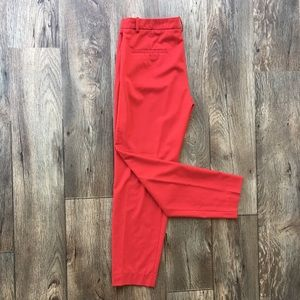 Zara Basic Red Slim Fit Slacks